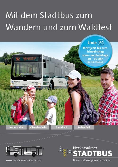 NSUStadtbus-Wanderziele